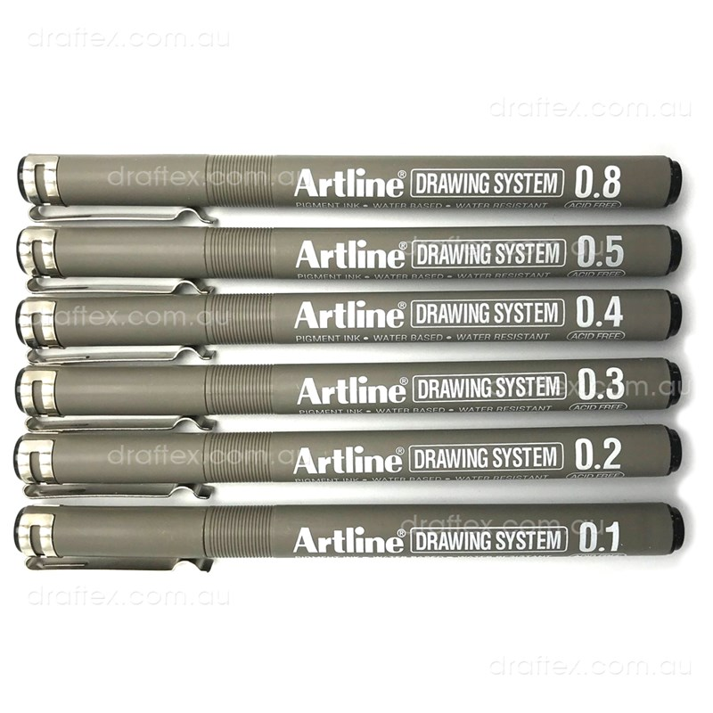 230Ds Artline Drawing System Pens