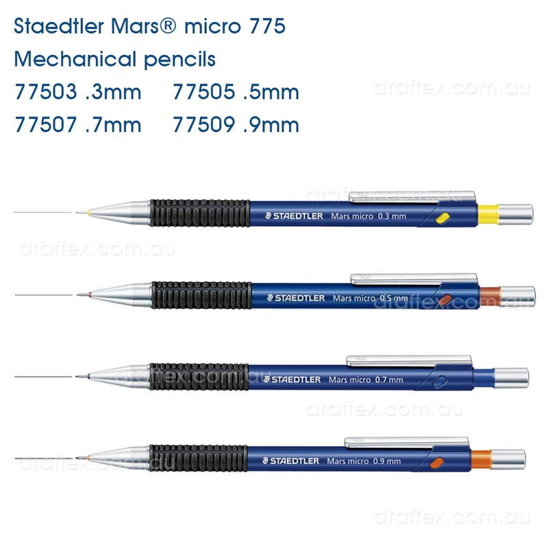 0.5mm Staedtler Mars Micro Mechanical Pencil 775 available in 0.3mm 0.7mm