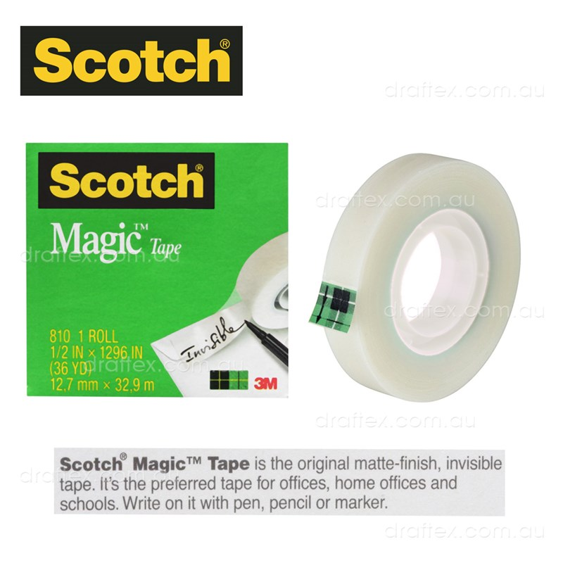 81012Bx Scotch Magic Tape 12Mm X 33M Box