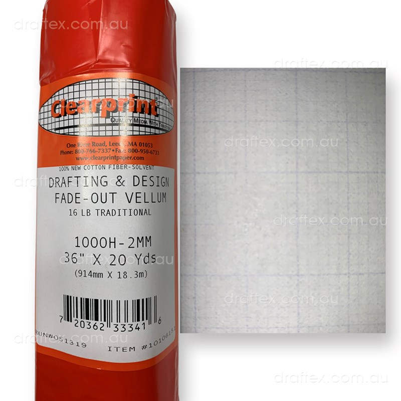 Cpfoggpr Clearprint Fade Out Graph Paper Roll 2Mm Grid 914 X 18Metre View 1