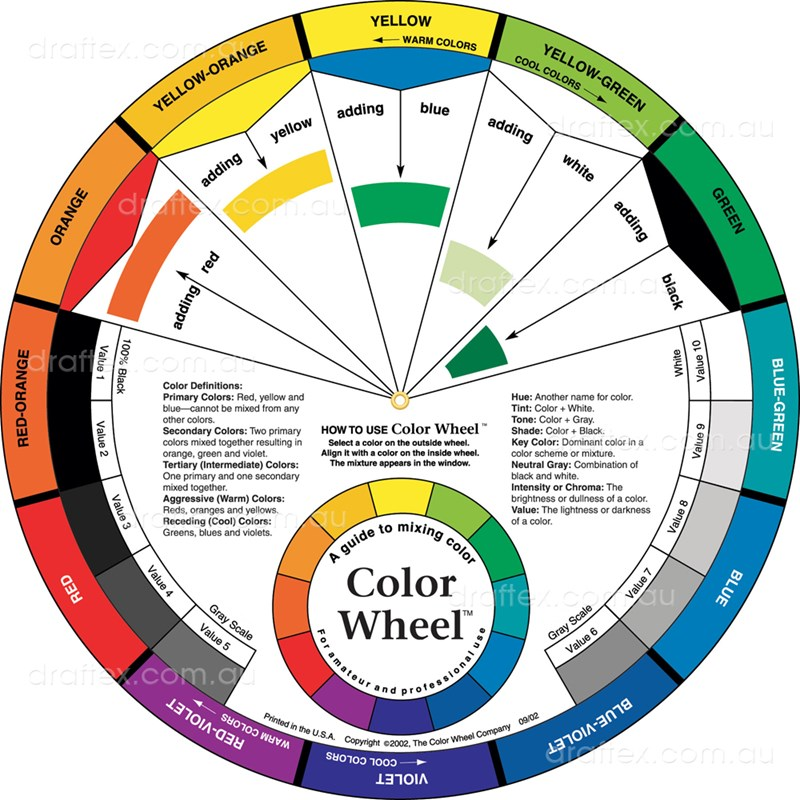 Acw3451 Artists Colour Wheel 27Cm Diameter