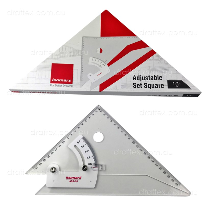 Adsm10 Isomars Adjustable Set Square 10Inch 250Mm View 1