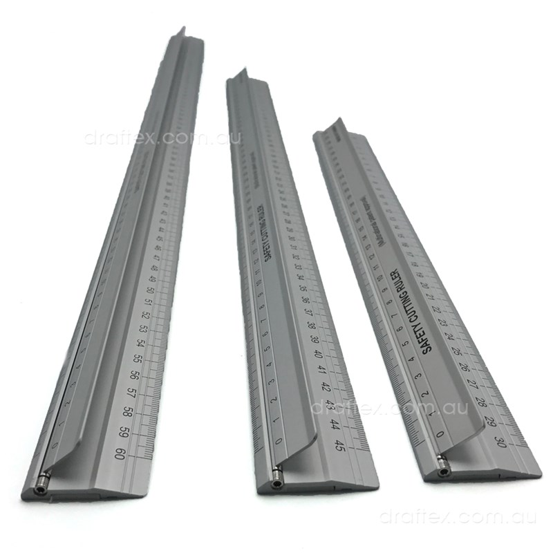 Ascr Aluminium Safety Cutting Rulers 30 45 60Cm