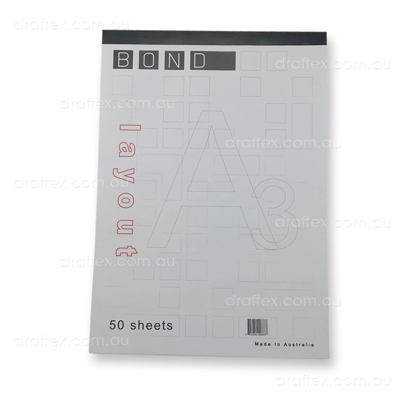 Bondpada3 Bond Paper Layout Pad A3 50 Sheets