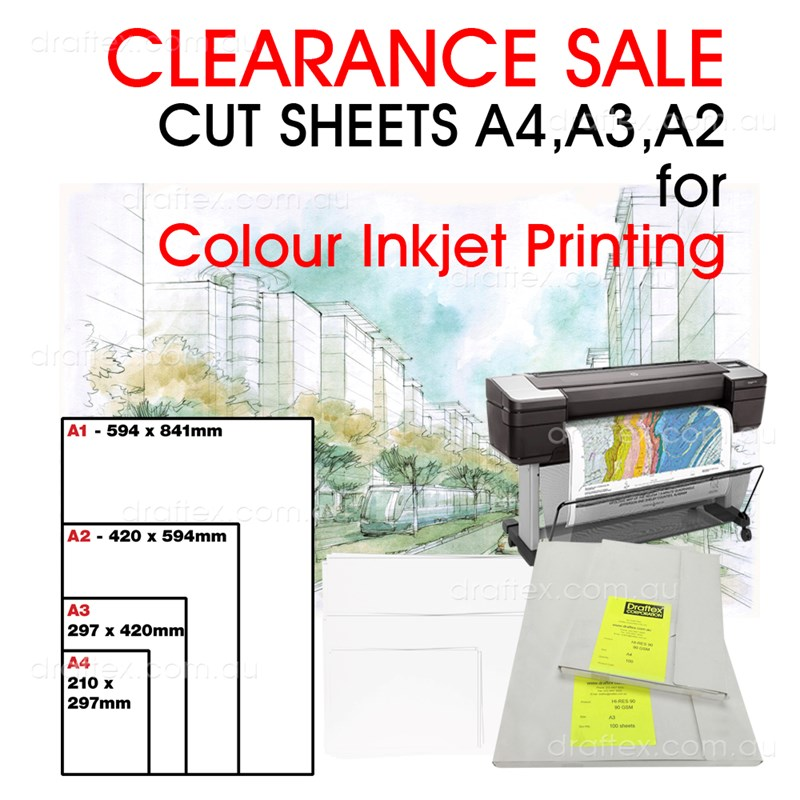 Clearance Sale Inkjet Cut Sheets