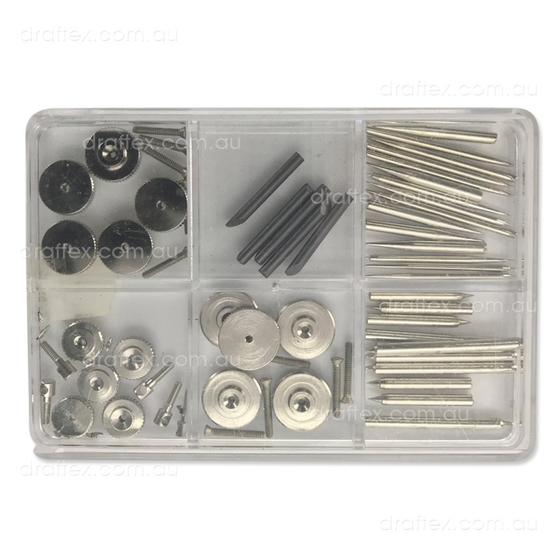 Cs28 Draftex Compass Spares Kit Containing Leads Needles Screws Locking Wheels
