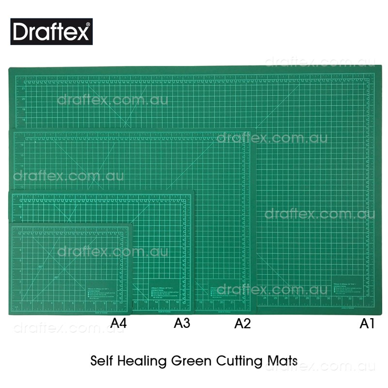 Cutmat Draftex Self Healing Green Cutting Mats Available In A4 A3 A2 A1 Sizes