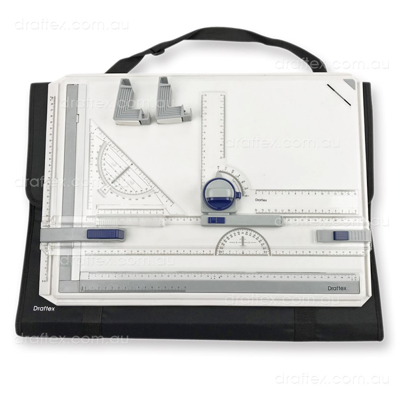 Dba3kit Draftex A3 Drawing Board Kit With Board Set Square Tilters Head Bag
