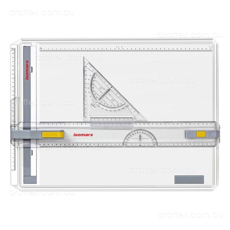 Dba3matix Isomars Matix A3 Drawing Board Double Lock With Set Square View 1