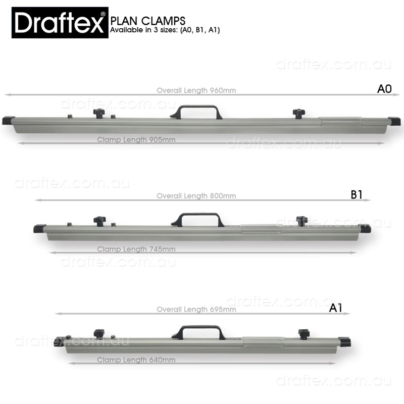 Dpca0 Dpcb1 Dpca1 Draftex Plan Filing Clamps Available In 3 Sizes A0 B1 A1