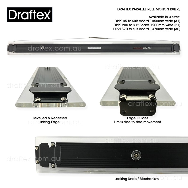 Dprxx Draftex Parallel Rule With Single Locking Mechanism Available In 3 Sizes