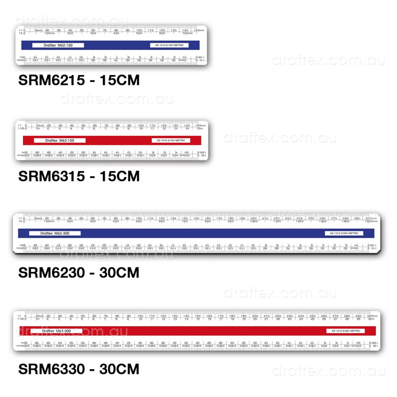 Draftex Srm 15 30Cm Oval Scale Rulers
