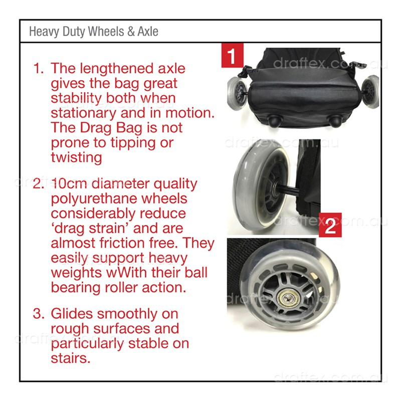 Dragbag Altitude Ergonomic Backpack Trolly Bag Features  Heavy Duty Wheels And Axle Image 7