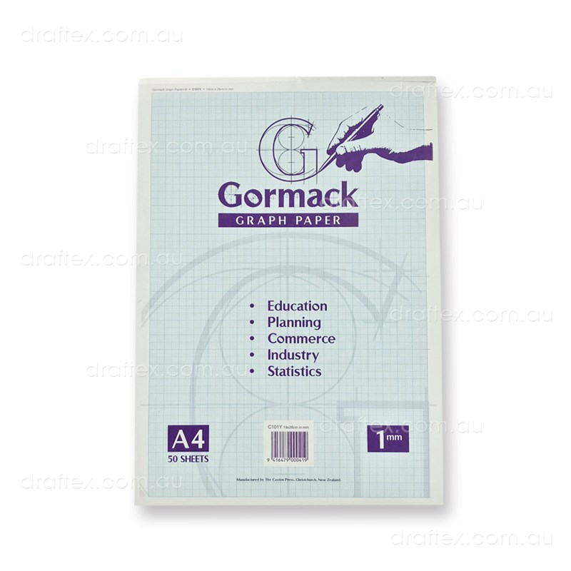 Graphpadc101ya4 Gormack Graph Paper Pad C101y 50 Sheets A4 1Mm Grid