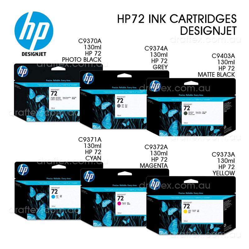 Hp 72 Designjet Ink Cartridges 130Ml