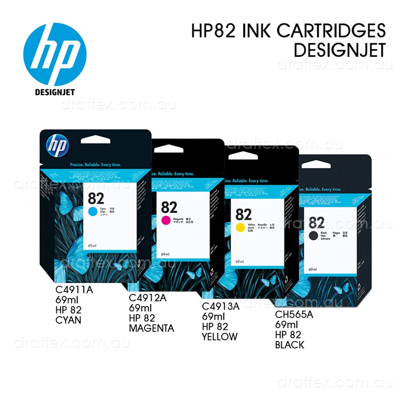 Hp 82 Designjet Ink Cartridges 69Ml