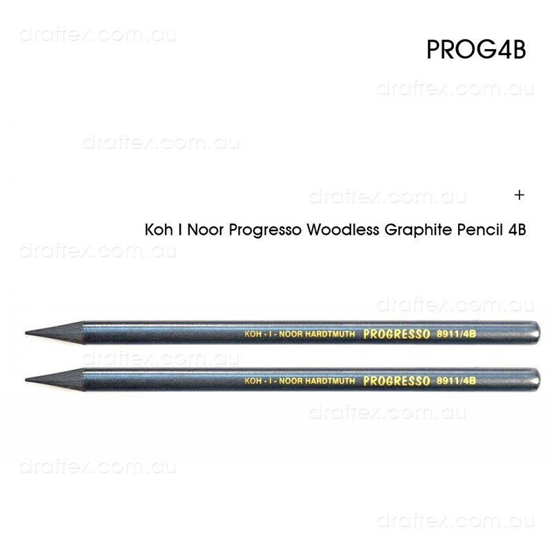 Prog4b Koh I Noor Progresso Woodless Pencil 4B