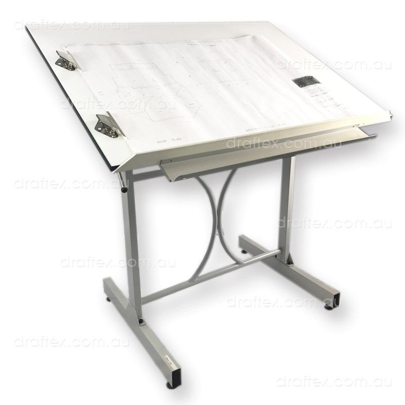 Prta1 Draftex Plan Reading Table For Up To A1 Size Drawings Ds10 Stand Sprung Holding Clips Raised Lip View 1