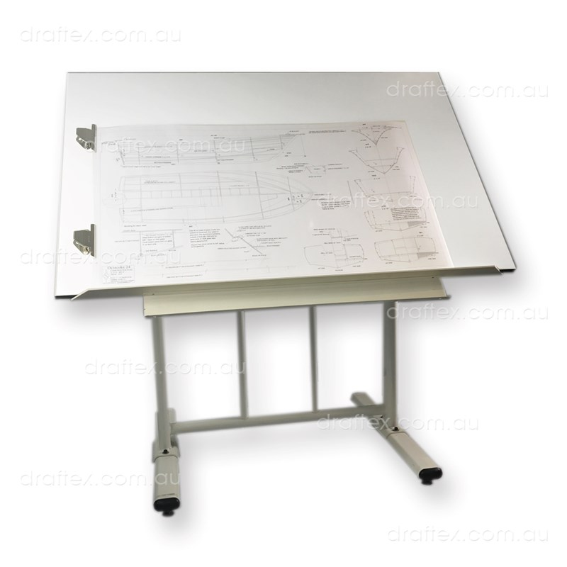 Prtao Draftex Plan Reading Table For Up To A0 Size Drawings Ds30 Stand Sprung Holding Clips Raised Lip View 1