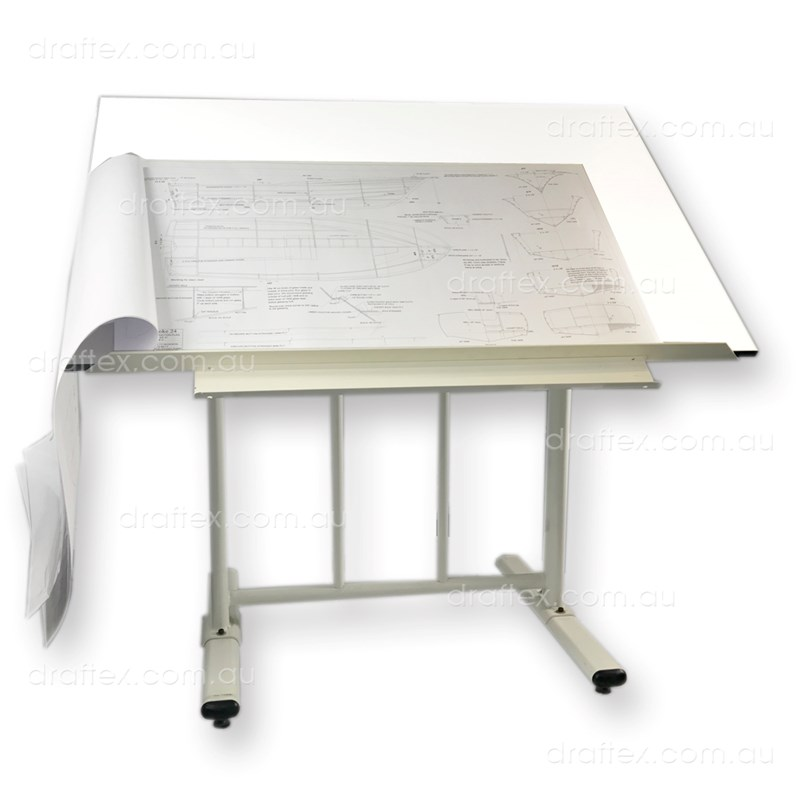 Prtao Draftex Plan Reading Table For Up To A0 Size Drawings Ds30 Stand Sprung Holding Clips Raised Lip View 2