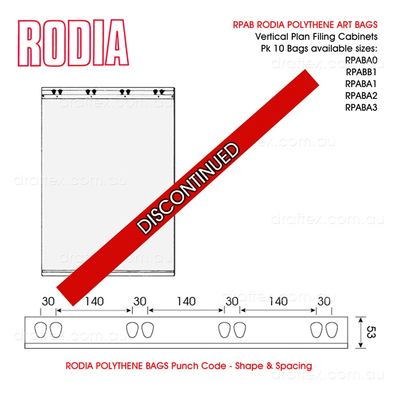 Rpabxx Rodia Poythene Art Bags For Planex Plan Cabinets Discontinued