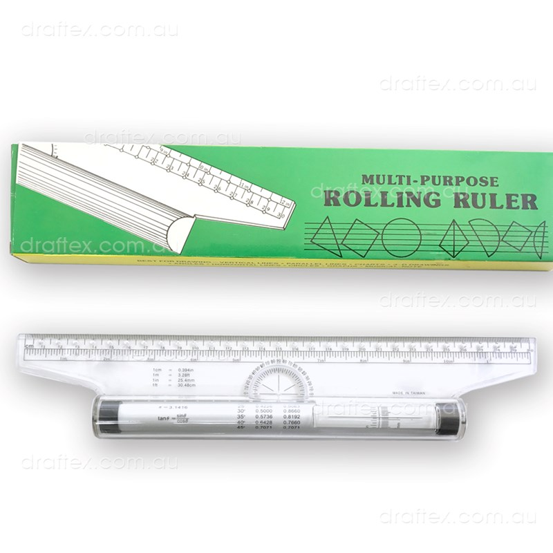 Rr30 Draftex Rolling Ruler 30Cm