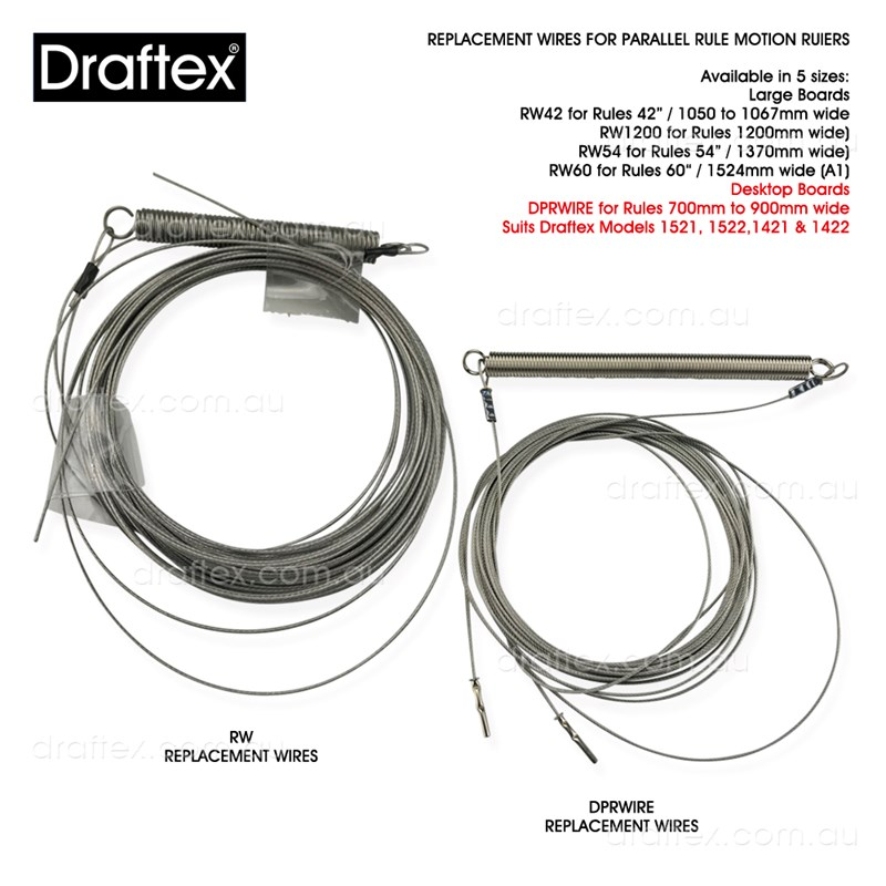 Rwxx And Dprwire Replacement Wires For Parallel Motion Rules Available In 5 Sizes