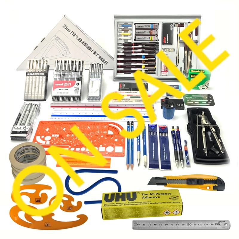Sale Clearance Collection Image Drawing Office Supplies