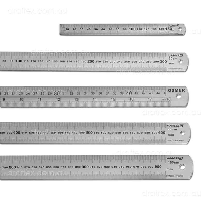 Steel15 30 45 60 100Cm Stainless Steel Cutting Rulers